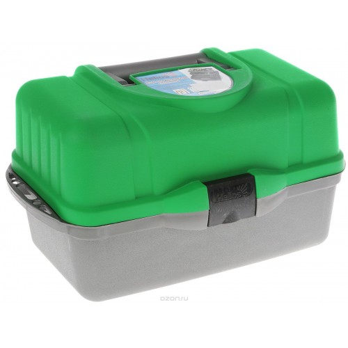 """Ящик рыболова """"Helios"""", трехполочный, цвет: зеленый ТОНА"""