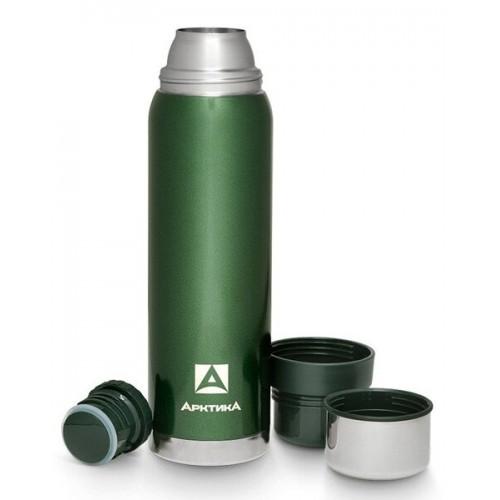 Термос ARCTICA  (0,9л)(28ч)(металл/эмаль)(с ситечком)-зеленый